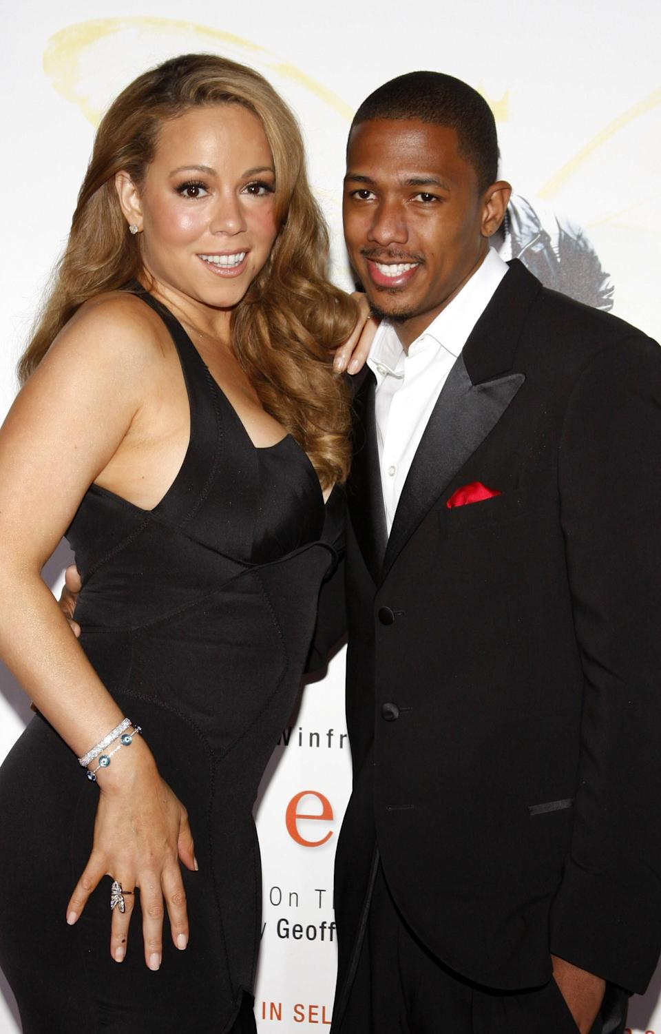 Mariah Carey and Nick Cannon on the red carpet