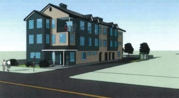 Proposed development on George Street in Fredericton.