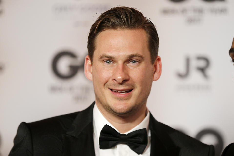 BERLIN, GERMANY - NOVEMBER 09: Lee Ryan of the band 'Blue' arrives for the GQ Men of the year Award 2017 at Komische Oper on November 9, 2017 in Berlin, Germany. (Photo by Franziska Krug/Getty Images for GQ)