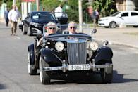 <p>The sun-filled trip taken by Prince Charles and Camilla was the first time members of the British royal family made an official visit to the country of Cuba. Obviously, the only way to cruise in Cuba is in a convertible-like car. </p>