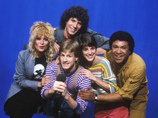 Original MTV VJs Nina Blackwood, Mark Goodman, Alan Hunter, Martha Quinn, and J.J. Jackson. (Photo: WireImage)