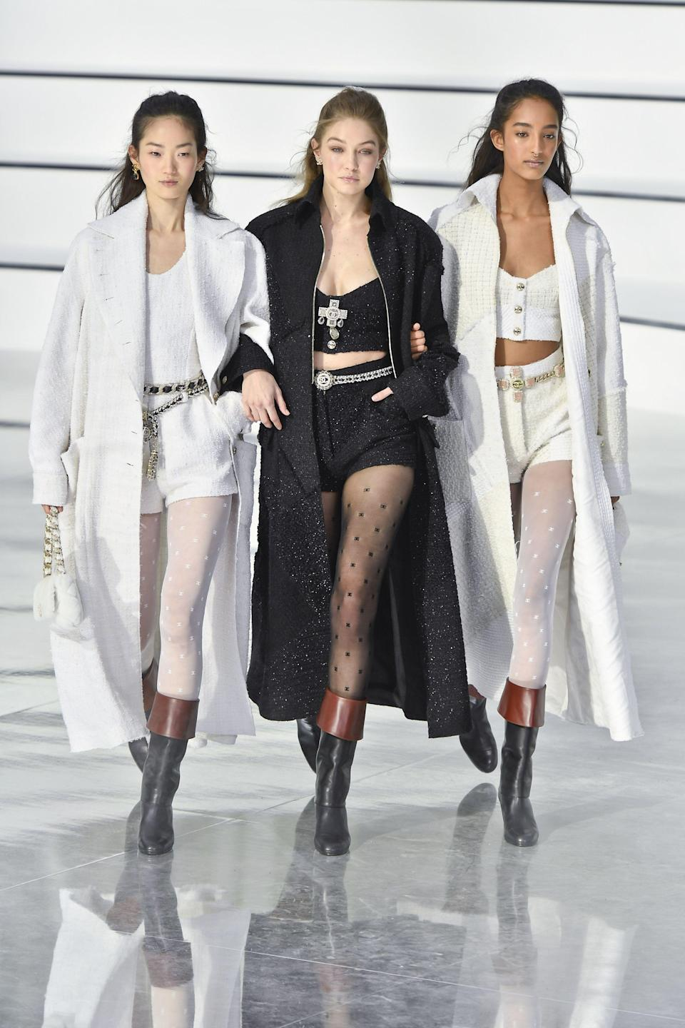 <p>During the AW20 season, Hadid walked the Chanel, Miu Miu, Isabel Marant, Lanvin, Missoni, Versace, Fendi, Moschino, Prada, Proenza Schouler, Marc Jacobs and Tom Ford, all while potentially already being pregnant. We are in awe. </p>