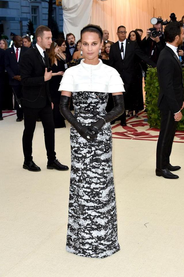 <p>Alicia Vikander in Louis Vuitton. (Photo: Getty Images) </p>