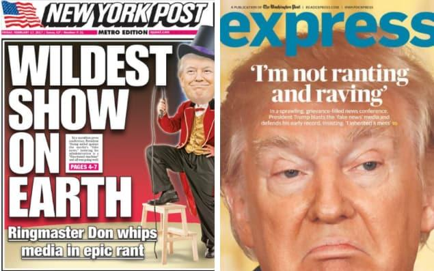 Trump newspaper fronts