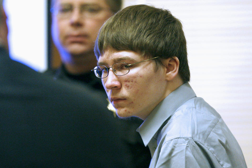 "FILE - In this April 16, 2007, file photo, Brendan Dassey appears in court at the Manitowoc County Courthouse in Manitowoc, Wis. Wisconsin Gov. Tony Evers says he will not consider a pardon request from Dassey convicted of rape and murder when he was a teenager whose story was documented in the 2015 Netflix series ""Making a Murderer."" A letter released Friday, Dec. 20, 2019, says the request from Dassey filed in October does not meet the criteria for a pardon consideration because he has not completed his prison sentence and he is a required to register as a sex offender. (Dan Powers/The Post-Crescent, Pool, File)"