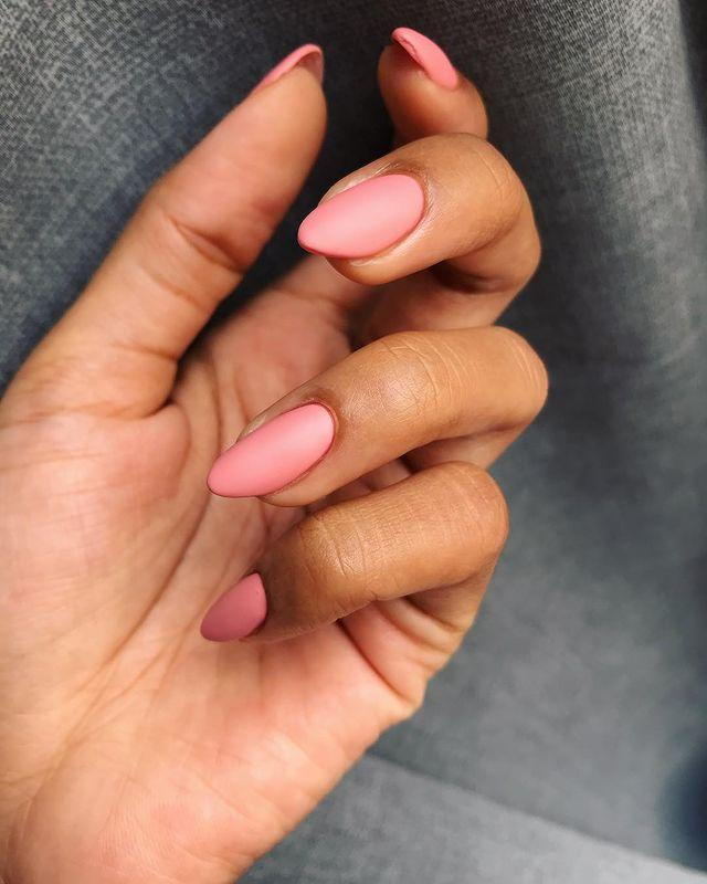 """<p>For a more modern pink, we love this matte dusky rose shade.</p><p><a href=""""https://www.instagram.com/p/BvcOWMmA4E9/"""" rel=""""nofollow noopener"""" target=""""_blank"""" data-ylk=""""slk:See the original post on Instagram"""" class=""""link rapid-noclick-resp"""">See the original post on Instagram</a></p>"""