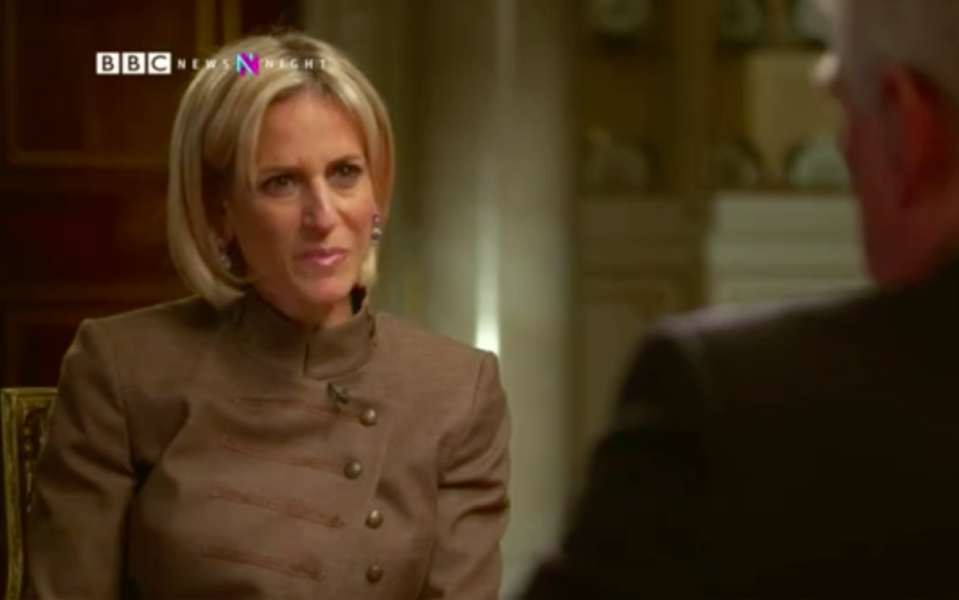 Emily Maitlis has said the Queen approved the interview with Prince Andrew (Picture: BBC)