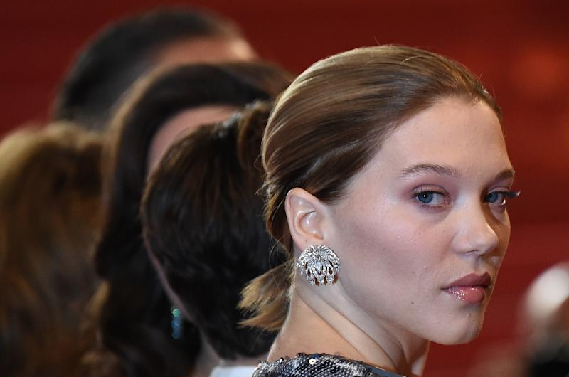 Award-winning French actress Lea Seydoux became the latest in a string of female Hollywood stars speaking out to accuse movie mogul Harvey Weinstein of sexual harassment (AFP Photo/ANNE-CHRISTINE POUJOULAT            )