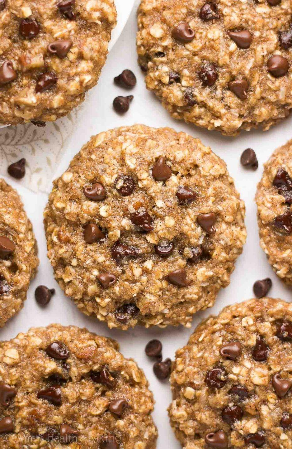 """<p>Bored of typical chocolate chip? Follow the lead of Wyoming locals and make these chewy oatmeal numbers, packed with coconut, pecans and chocolate chips.</p><p>Get the recipe from <a href=""""https://amyshealthybaking.com/blog/2017/05/30/healthy-classic-cowboy-cookies/"""" rel=""""nofollow noopener"""" target=""""_blank"""" data-ylk=""""slk:Amy's Healthy Baking"""" class=""""link rapid-noclick-resp"""">Amy's Healthy Baking</a>.</p>"""