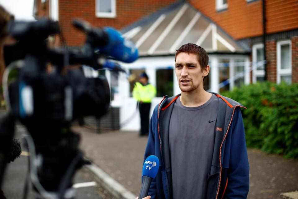 <em>Sam Hobson, 29, said Charlie Rowley and Dawn Sturgess were left hallucinating and unconscious (Picture: Reuters)</em>