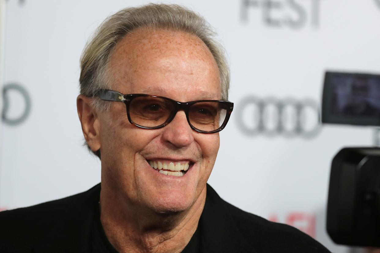 """Actor Peter Fonda, the son of a Hollywood legend who became a movie star in his own right after both writing and starring in the counterculture classic """"Easy Rider,"""" died on Aug. 16, 2019. He was 79."""