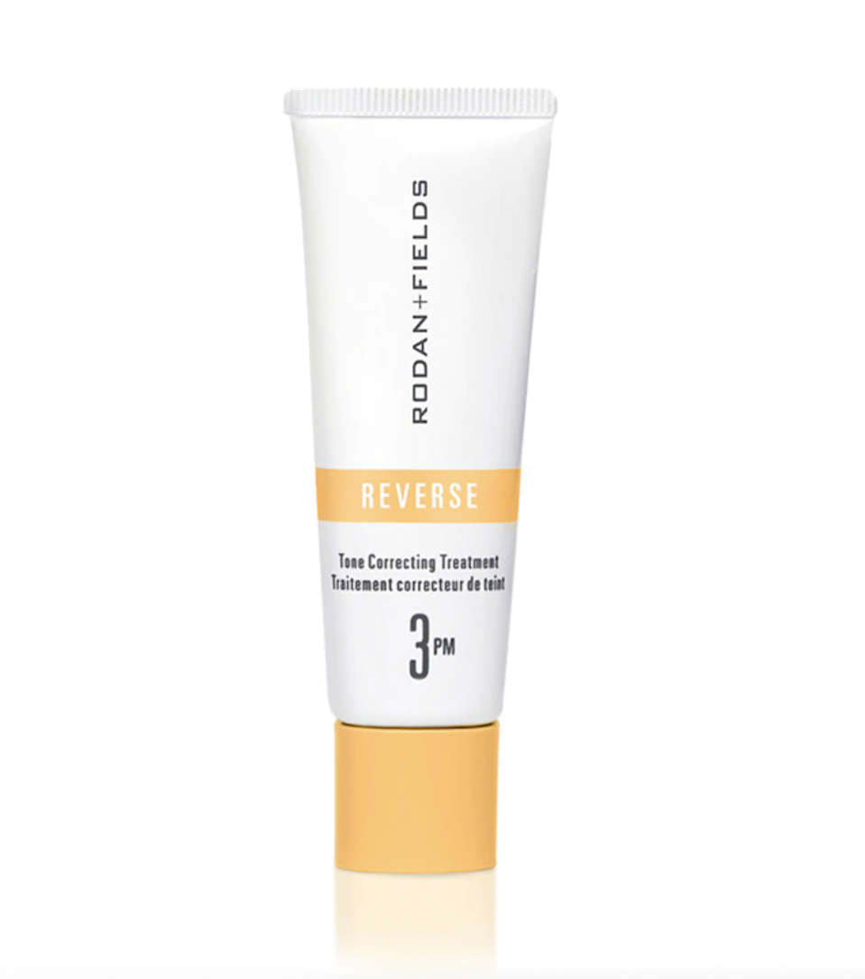 """""""For long-term antiaging benefits, retinols like Rodan + Fields's Reverse Tone Correcting Treatment—which combines two different types of synergistic retinols—are best,"""" says Linkner. $110, Rodan + Fields. <a href=""""https://www.rodanandfields.com/shop/reverse-tone-correcting-treatment/p/RVTTG50"""" rel=""""nofollow noopener"""" target=""""_blank"""" data-ylk=""""slk:Get it now!"""" class=""""link rapid-noclick-resp"""">Get it now!</a>"""