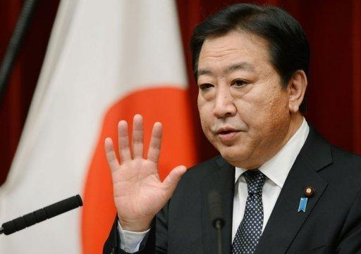 Japanese Prime Minister Yoshihiko Noda answers questions during a press conference at his official residence in Tokyo. Noda dissolved the lower house of parliament on Friday for an election next month, in a political gamble widely expected to strip his centre-left party of power