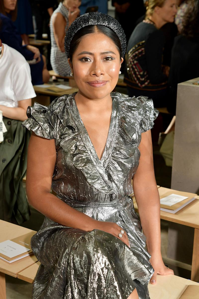 Yalitza Aparicio Attends Her First Fashion Show for Michael Kors
