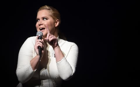 Amy Schumer onstage in New York, 2015 - Credit: Getty