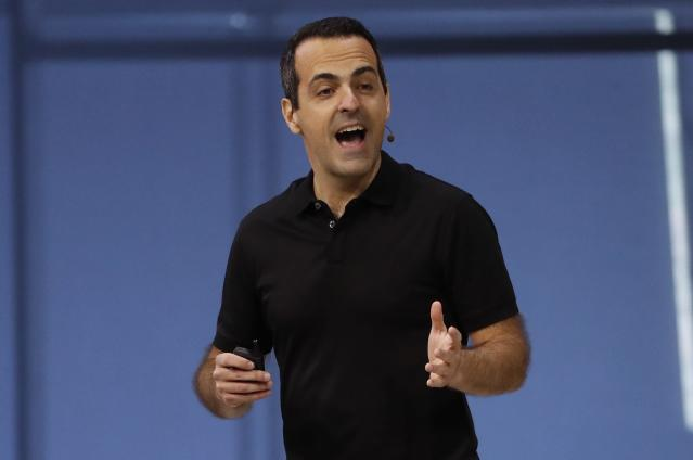 Facebook Vice President of Virtual Reality Hugo Barra during Facebook's annual F8 conference in San Jose, California last week. Source: REUTERS/Stephen Lam