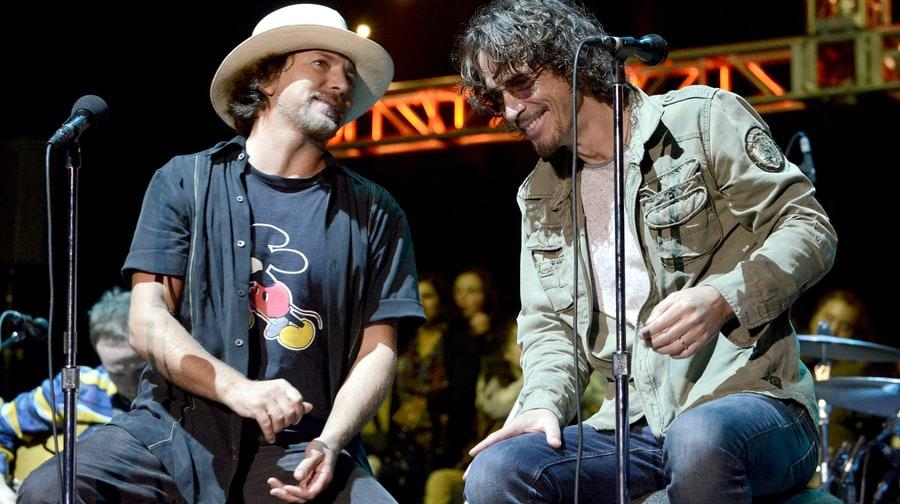 "Pearl Jam's Eddie Vedder, Soundgarden's Chris Cornelll reunited Temple of the Dog at 2014 Bridge School Benefit for their last duet on ""Hunger Strike."""