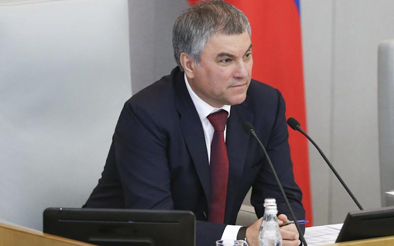 Speaker Vyacheslav Volodin leads parliament in adopting a statement against Latvia reduction of Russian-language instruction in schools - TASS