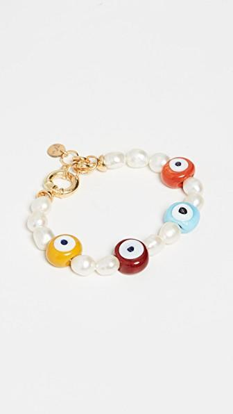 "Ahead, we curated even more evil eye adornments for your ears, necks, wrists, and beyond. <br> <br> <strong>Maison Irem</strong> Pearl Nazar Bracelet, $, available at <a href=""https://go.skimresources.com/?id=30283X879131&url=https%3A%2F%2Fwww.shopbop.com%2Fpearl-nazar-bracelet-maison-irem%2Fvp%2Fv%3D1%2F1598732980.htm%3FfolderID%3D59351%26fm%3Dother-viewall%26os%3Dfalse%26colorId%3D11338"" rel=""nofollow noopener"" target=""_blank"" data-ylk=""slk:Shopbop"" class=""link rapid-noclick-resp"">Shopbop</a>"