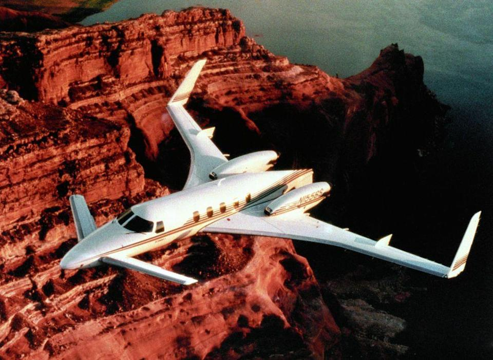 """<p>The Starship was set to revolutionize business flying forever. Its striking composite airframe, twin pusher turbo-props, and high-tech cockpit wowed the industry, but poor market timing and a staggering <a href=""""https://www.pilotmall.com/blogs/news/the-history-of-the-beechcraft-starship-and-its-sad-ending"""" rel=""""nofollow noopener"""" target=""""_blank"""" data-ylk=""""slk:$3.9 million price tag"""" class=""""link rapid-noclick-resp"""">$3.9 million price tag</a> scared many buyers away. Only 53 Starships were built. </p>"""