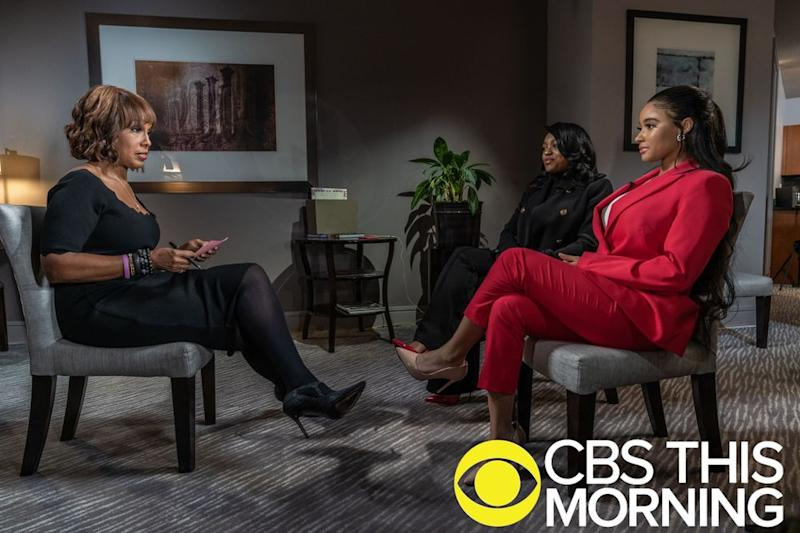 Gayle King with Azriel Clary and Joycelyn Savage