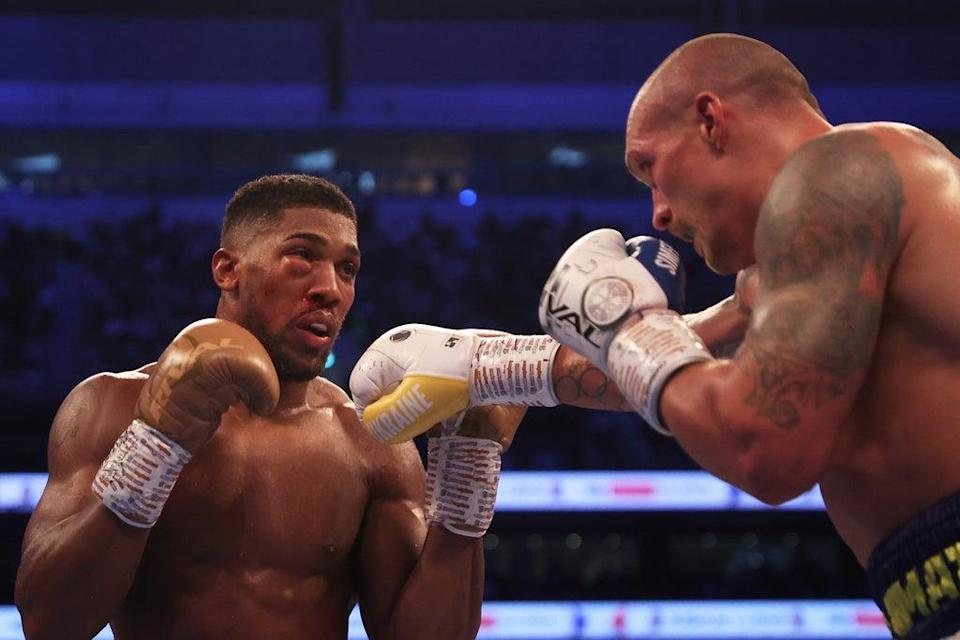 Anthony Joshua was dominated by Oleksandr Usyk at the Tottenham Hotspur Stadium  (Getty Images)