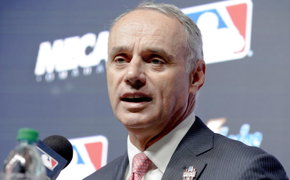 MLB's culpability in the larger scheme of how teams operate in Latin America is a vexing question – and one commissioner Rob Manfred will have to answer. (AP)