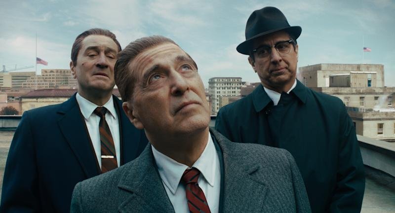 Robert De Niro, Al Pacino and Ray Romano star in Martin Scorsese's 'The Irishman,' which helped make Oscar history for Netflix (Photo: Netflix)