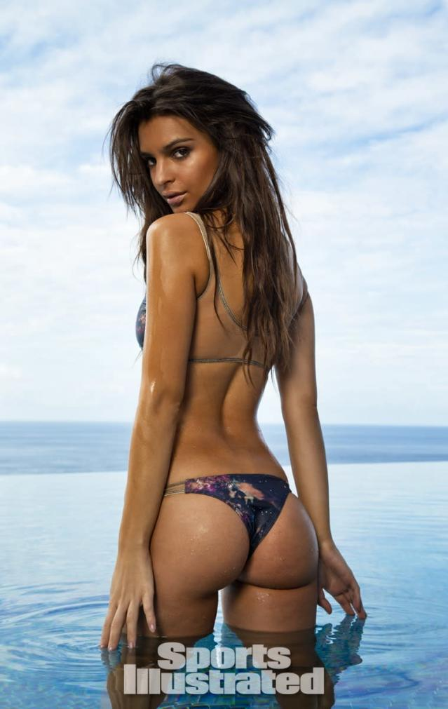 <p>Emily Ratajkowski was photographed by Walter Iooss Jr. at Caille Blanc Villa, in Soufriere, St. Lucia. Swimsuit by MANDALYNN.</p>
