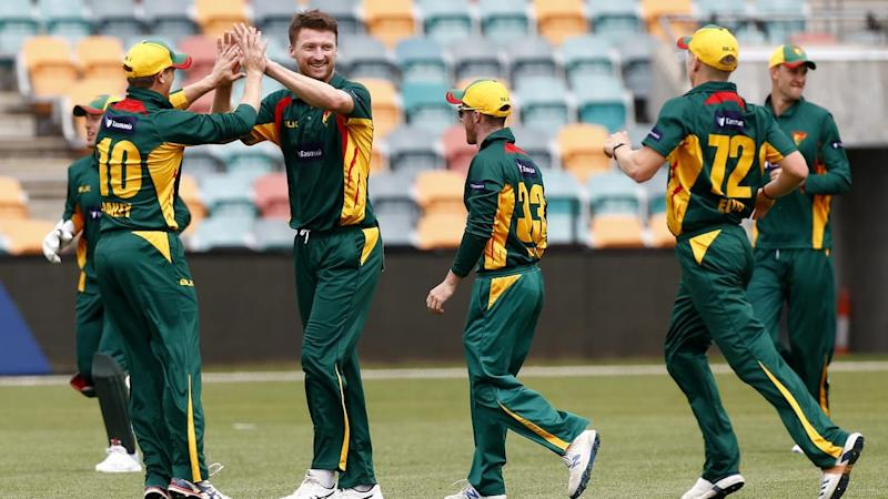 Jackson Bird (3L) with six wickets has led Tasmania to a 120-run one-day cup win over NSW in Hobart