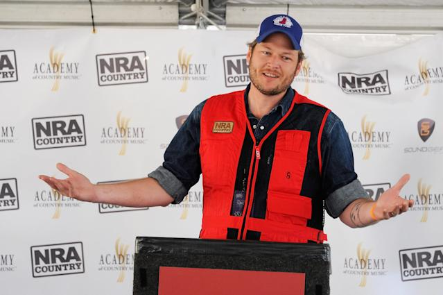 The NRA Country/ACM Celebrity Shoot, hosted by Blake Shelton, at the Desert Hills Shooting Club on March 31, 2012, in south Boulder City, Nev. (Photo: Getty Images)