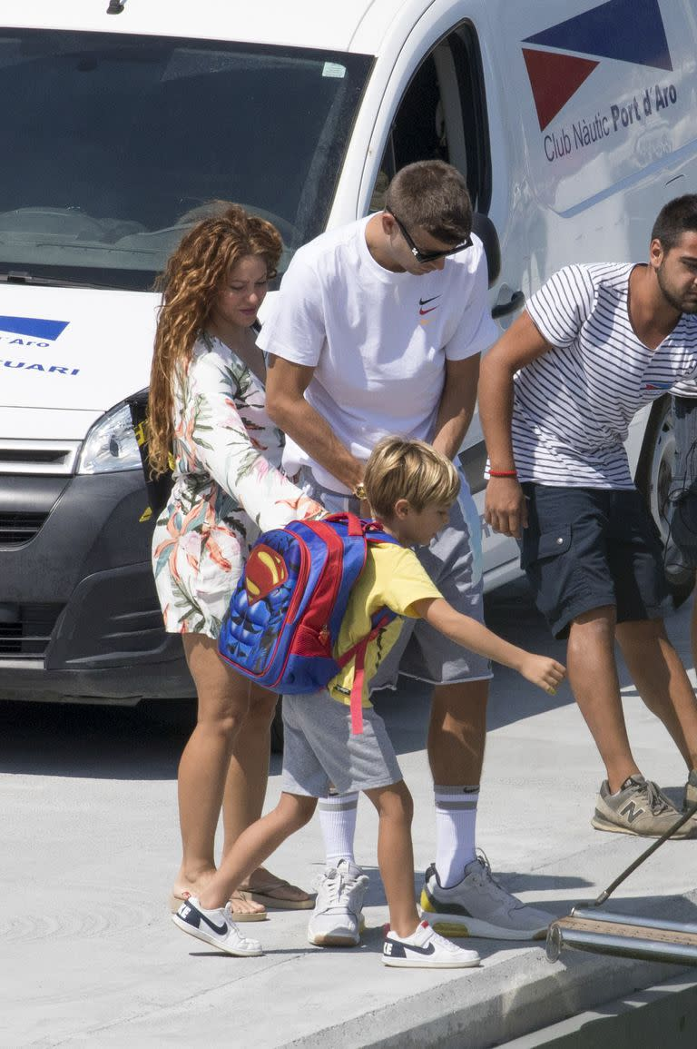 Family, upon arrival at the port