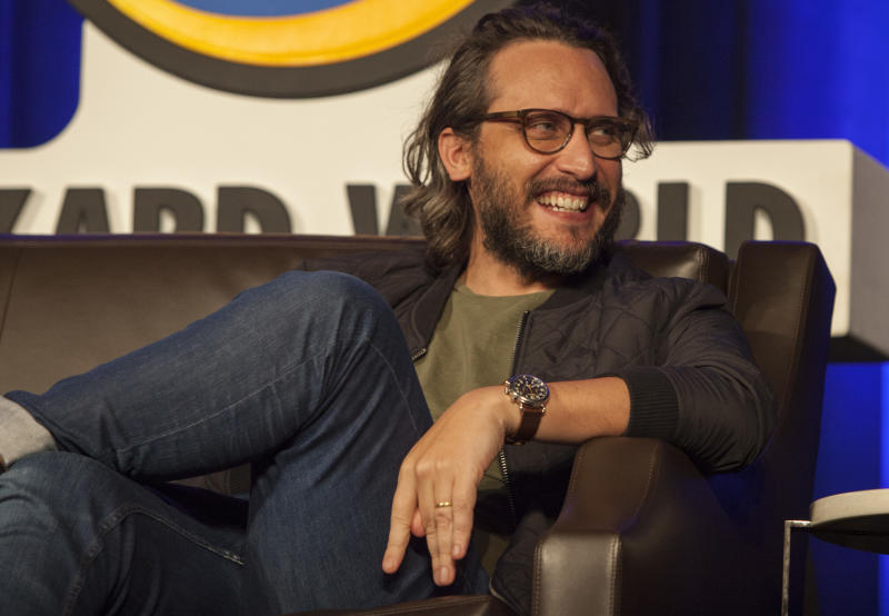 "Director Fede Alvarez appears during the panel of ""Don't Breathe"" at Wizard World Chicago Comic-Con on Aug. 19, 2016. (Photo by Barry Brecheisen/Invision/AP)"