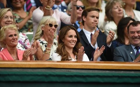 Kate in the Royal Box on Tuesday afternoon - Credit: Eddie Mulholland For The Telegraph