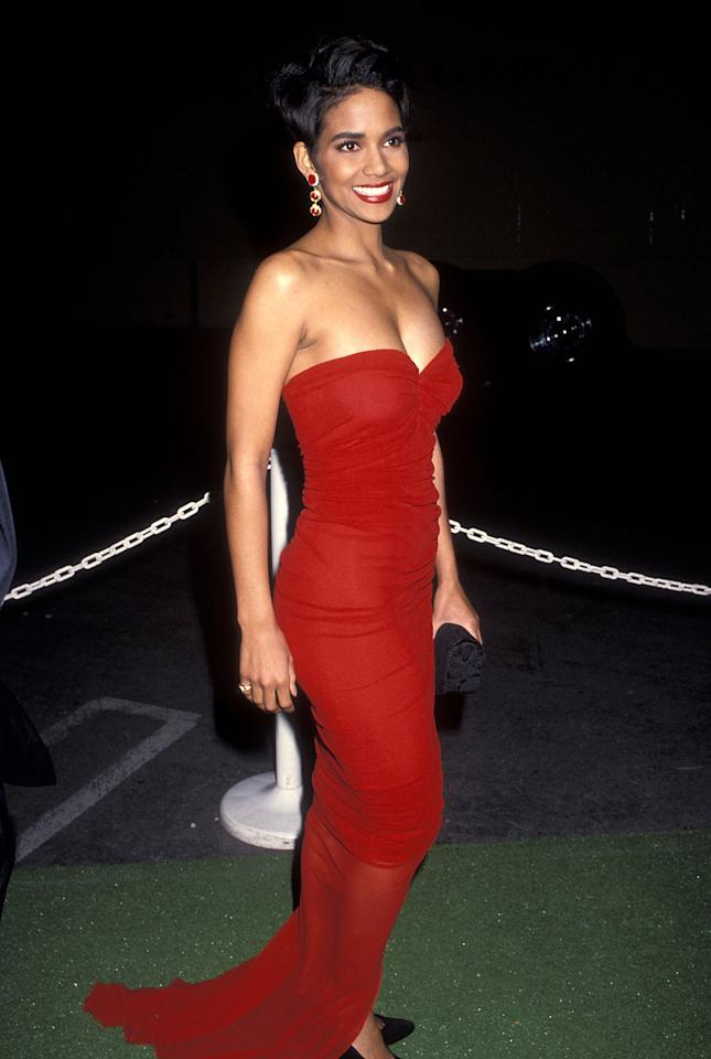 <p>Seen here at the awards in 1992, Halle Berry has since been nominated for the Outstanding Actress in a Motion Picture award an astonishing 16 times and won the award six times. The first was for her role in <em>Boomerang</em>, and most recently she was honored for 2011's <em>Frankie & Alice</em>. (Photo: Getty Images) </p>