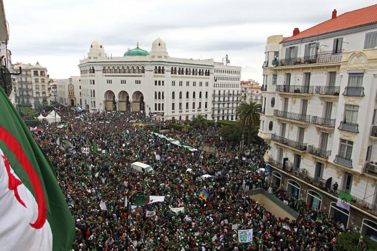 """Nearly two decades later, the nationwide """"Hirak"""" protest movement peaked with hundreds of thousands taking to the streets to force the resignation of longtime president Abdelaziz Bouteflika in 2019"""