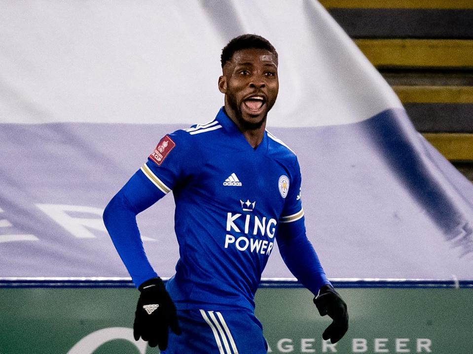 Leicester striker Kelechi Iheanacho (Manchester United via Getty Images)