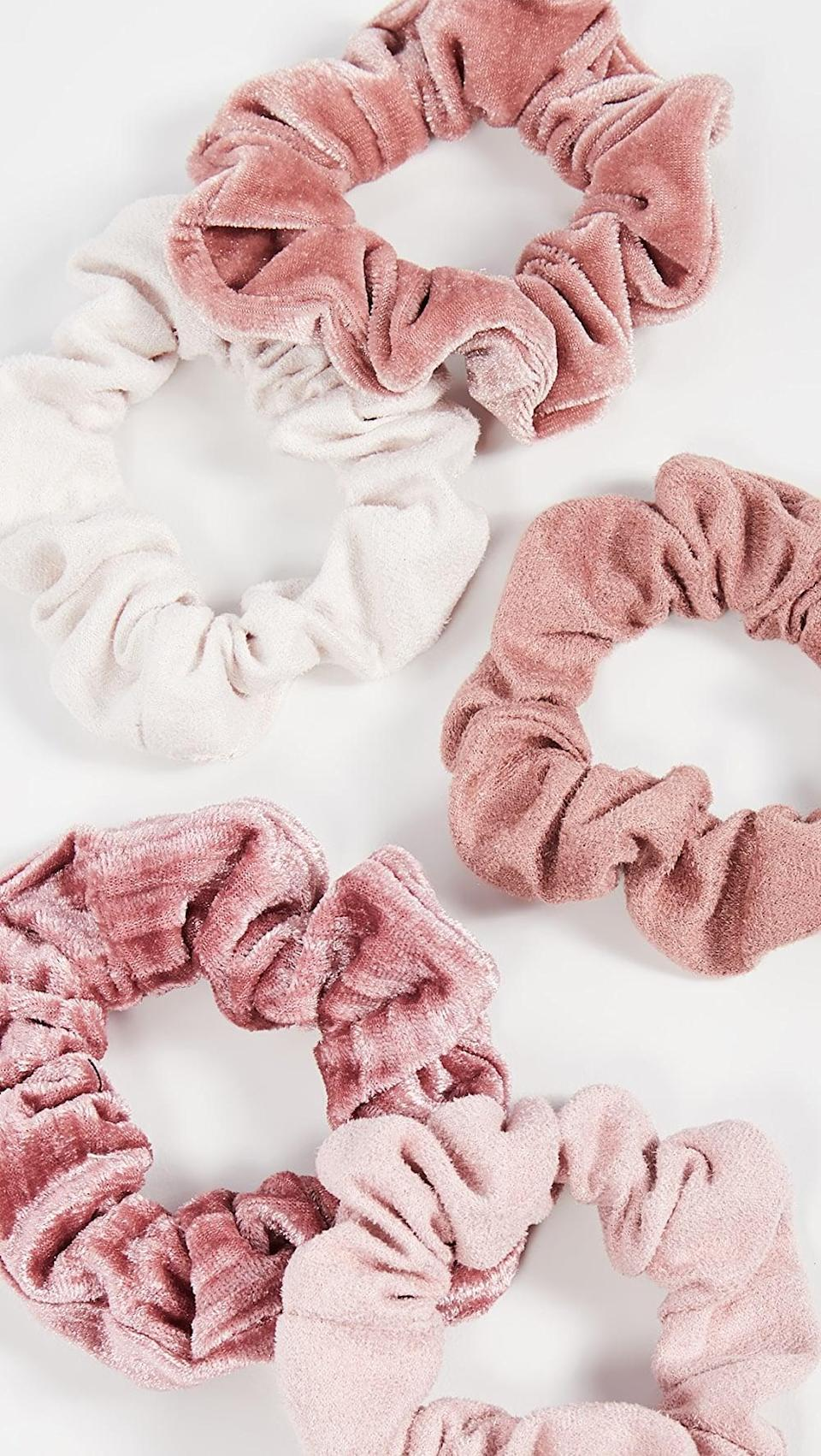 <p>These <span>Kitsch Matte Velvet Scrunchies</span> ($12) are so cute and versatile.</p>