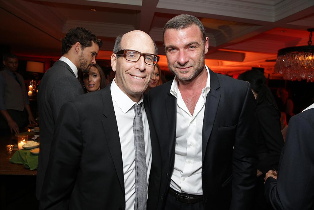 Showtime Chairman and Chief Executive Officer, Matthew C. Blank; Liev Schreiber seen at the Showtime Premiere of the New Drama Series Ray Donovan presented by Time Warner Cable, on Tuesday, June, 25, 2013 in Los Angeles. (Photo by Eric Charbonneau/Invision for Showtime/AP Images)
