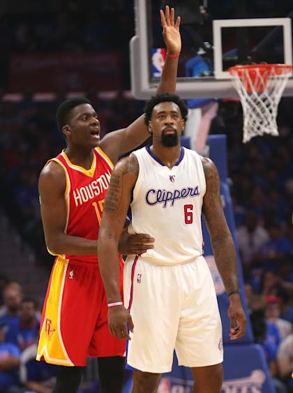 The Rockets sent DeAndre Jordan to the foul line 28 times in the first half. (Getty Images)