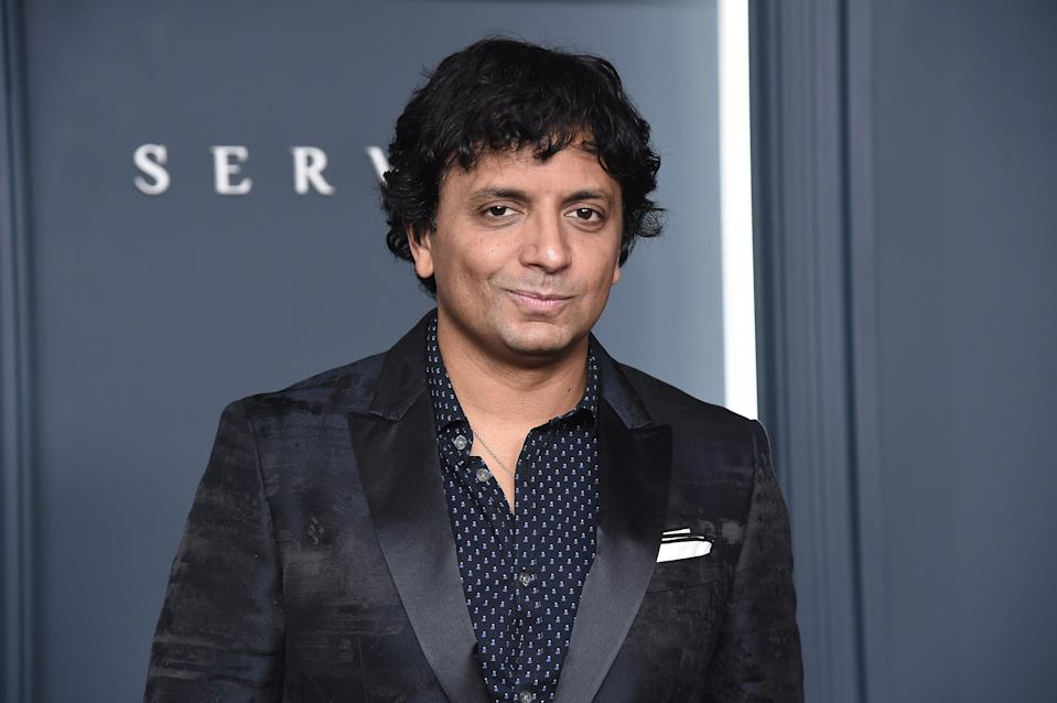 "M. Knight Shyamalan attends Apple TV+'s ""Servant"" World Premiere on November 19, 2019. (Photo by Gary Gershoff/WireImage)"