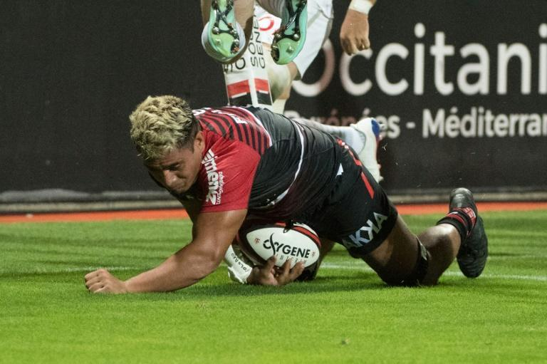 Selevasio Tolofua scored the opening try of the match at a sold-out Stade Ernest Wallon (AFP/FRED SCHEIBER)