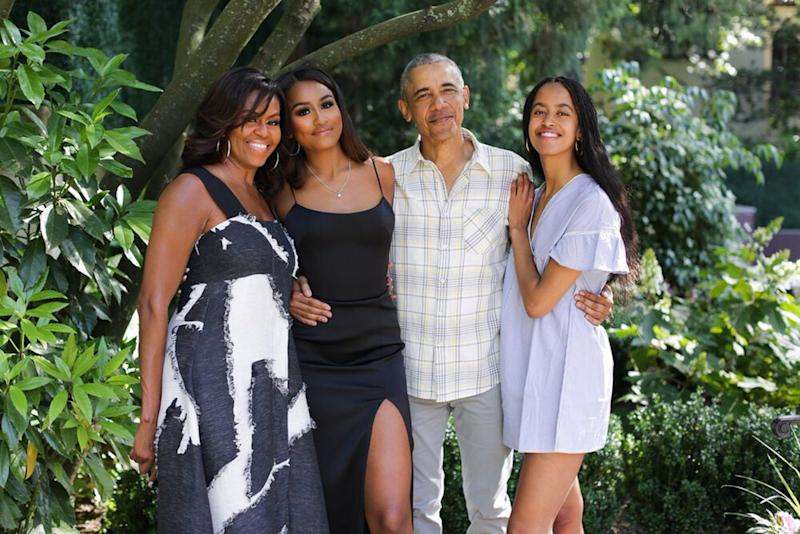 Michelle Obama, Sasha Obama, Barack Obama and Malia Obama | Michelle Obama/Twitter