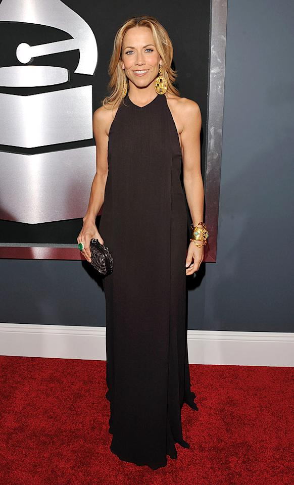 "Sheryl Crow  Grade: B-   The 47-year-old singer accentuated her buff arms in a basic brown Bottega Veneta gown and chunky gold jewelry. Lester Cohen/<a href=""http://www.wireimage.com"" target=""new"">WireImage.com</a> - January 31, 2010"