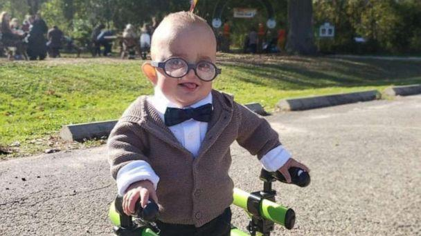 PHOTO: Brantley Morse, 2, is dressed as Carl from the Pixar film, 'Up,' at a fall festival in Ohio, October 2019. (Courtesy Brittany Morse)
