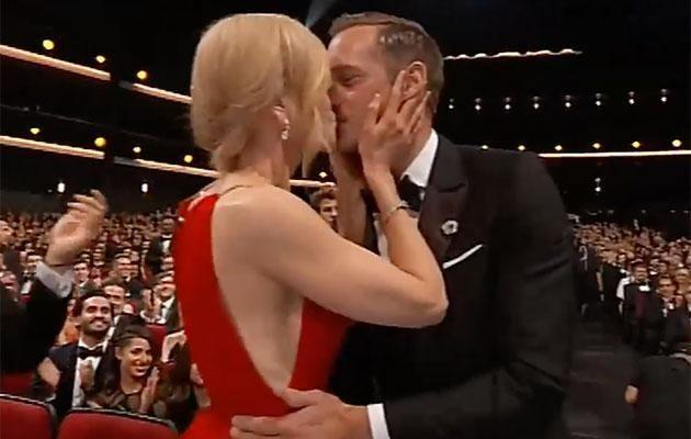 She faced huge backlash for pashing Alex at last year's Emmys. Source: CBS