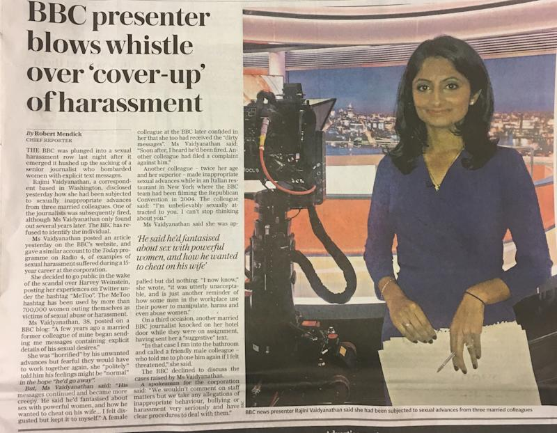 <strong>The Telegraph claimed Vaidyanathanhad blown the whistle on a 'cover-up'</strong>