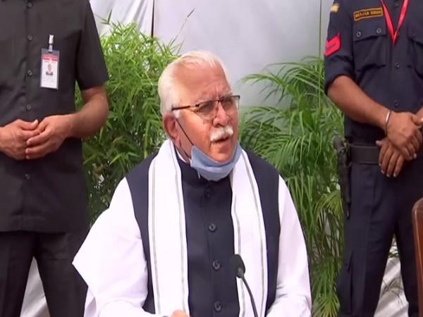 Haryana Chief Minister Manohar Lal Khattar. (Photo/ANI)