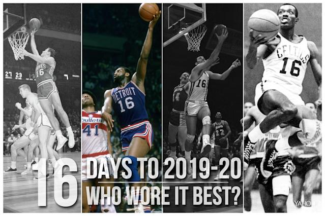 Which NBA player wore No. 16 best?