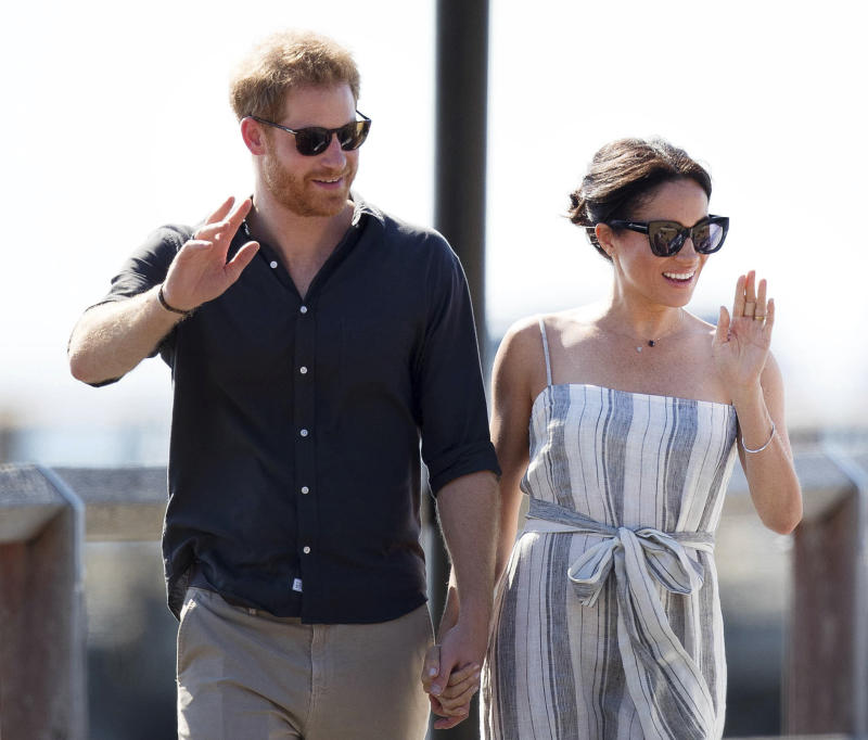 "January 20th 2020 - Buckingham Palace has announced that Prince Harry and Duchess Meghan will no longer use ""royal highness"" titles and will not receive public money for their royal duties. Additionally, as part of the terms of surrendering their royal responsibilities, Harry and Meghan will repay the $3.1 million cost of taxpayers' money that was spent renovating Frogmore Cottage - their home near Windsor Castle. - January 9th 2020 - Prince Harry The Duke of Sussex and Duchess Meghan of Sussex intend to step back their duties and responsibilities as senior members of the British Royal Family. - File Photo by: zz/KGC-09/STAR MAX/IPx 2018 10/22/18 Prince Harry The Duke of Sussex and Meghan The Duchess of Sussex visit Kingfisher Bay Resort on Fraser Island in Australia."
